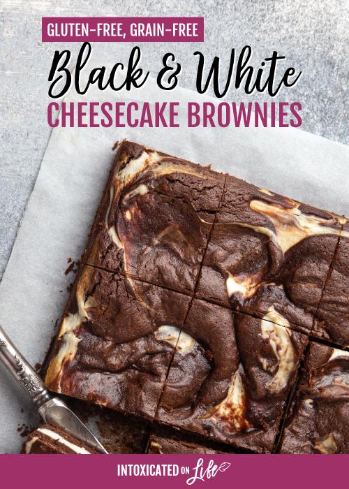 Gluten Free Black and White Cheesecake Brownies