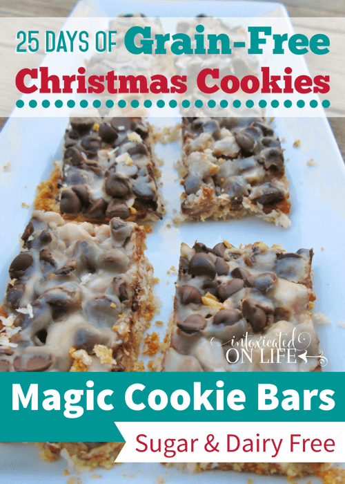 Grain-free Magic Cookie Bars (sugar-free, dairy-free)