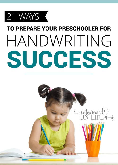 21 Ways To Prepare Your Preschooler For Handwriting