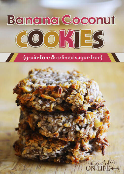 Grain free Banana Coconut Cookies