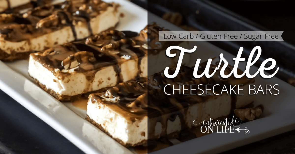 Low Carb Gluten Free Sugar Free Turtle Cheesecake Bars