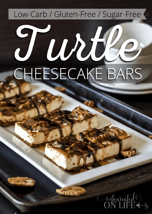 Decadent Low-Carb Turtle Cheesecake Bars