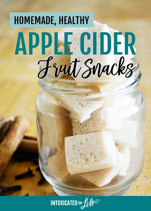 Homemade Healthy Apple Cider Fruit Snacks