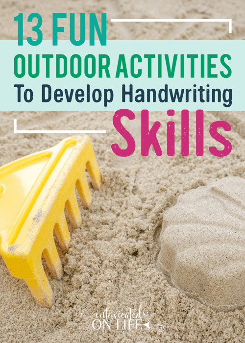13 Fun Outdoor Activities To Develop Handwriting Skills