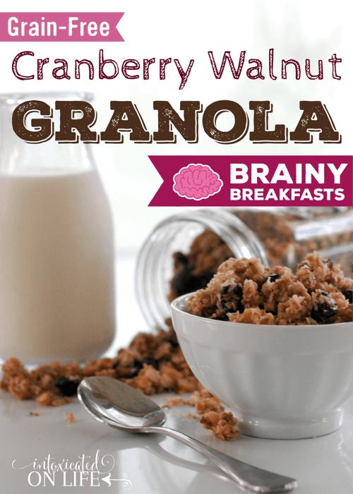 Grain Free Cranberry Walnut Cereal