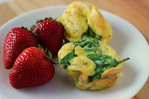 Spinach and Goat Cheese Egg Muffins