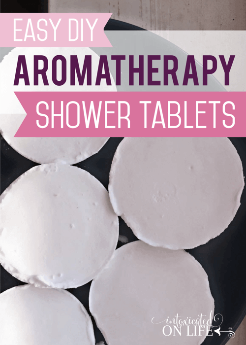 Easy DIY Aromatherapy Shower Tablets