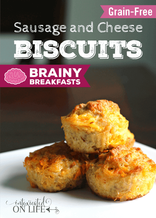 Grain Free Sausage And Cheese Biscuits