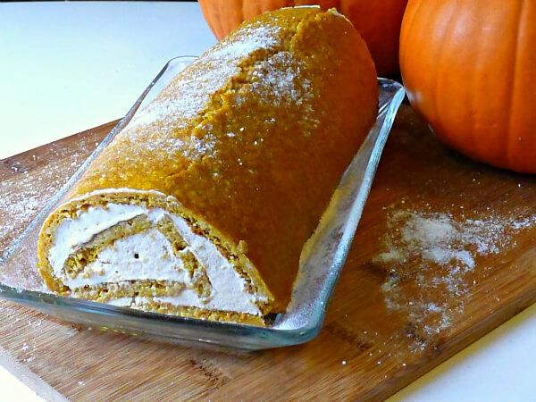 Protein-Packed Pumpkin Roll (Gluten-Free, Sugar-Free)