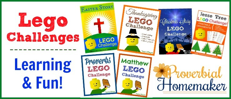 Bible and holiday Lego challenges for fun hands-on learning!