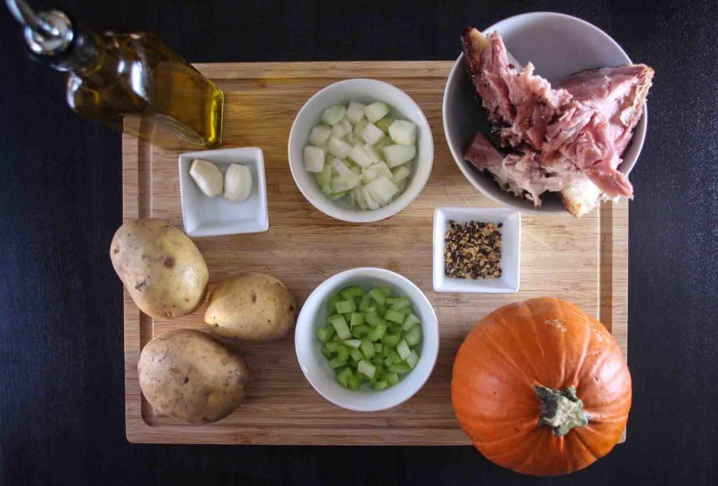 Potato, Ham & Pumpkin Soup-1
