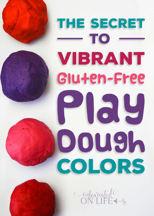 The Secret To Vibrant Gluten Free Play Dough Colors