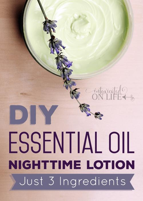 DIY Essential Oil Nighttime Lotion Just 3 Ingredients