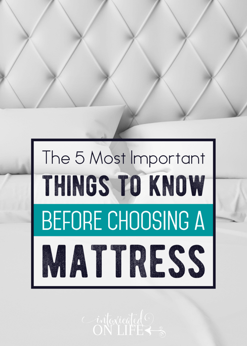 The 5 Most Important Things To Know Before Choosing A Mattress