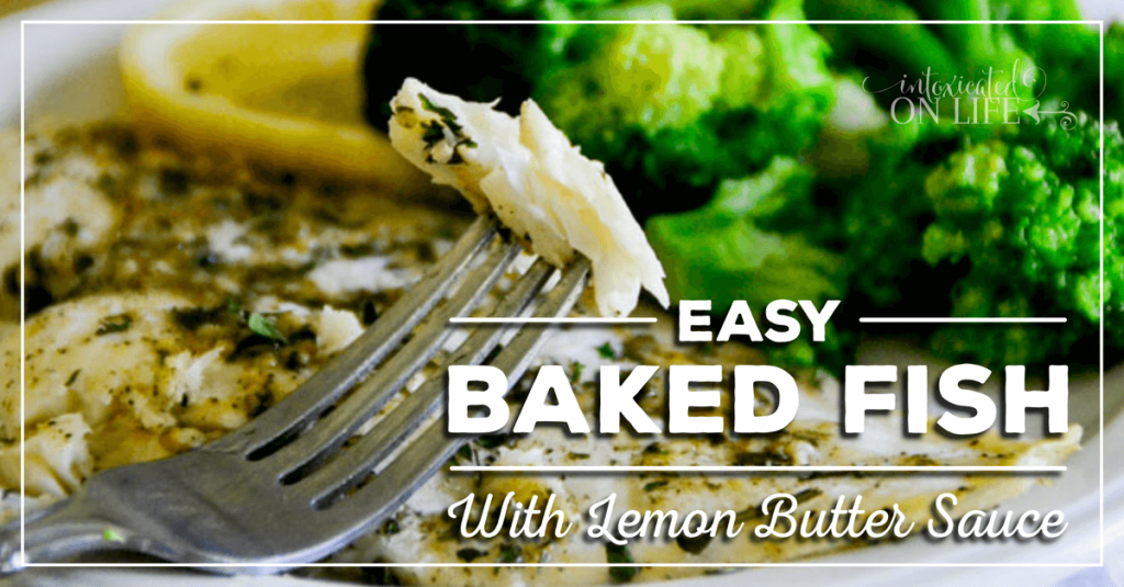 Easy Baked Fish With Lemon Butter Sauce FB