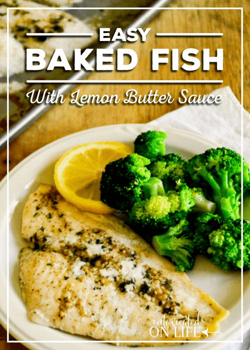 Easy Baked Fish With Lemon Butter Sauce