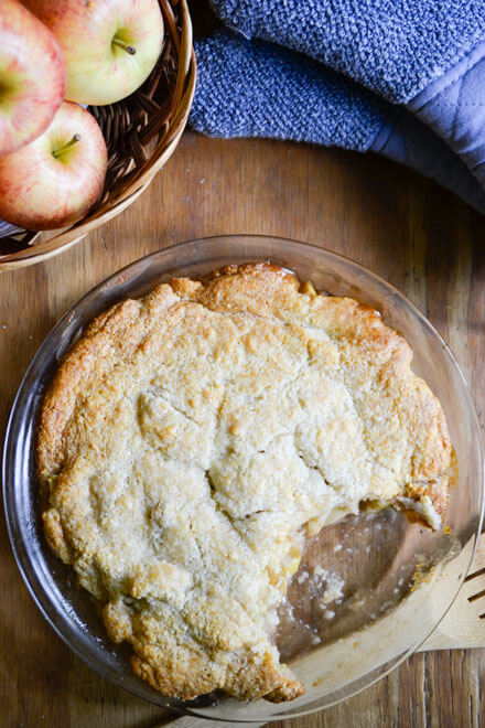 This Grain-Free Maple Apple Cobbler is the perfect treat, whether you enjoy it for breakfast, dinner, or dessert!
