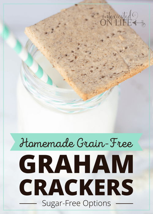 Homemade Grain-free Graham Crackers with Sugar FreeOptions