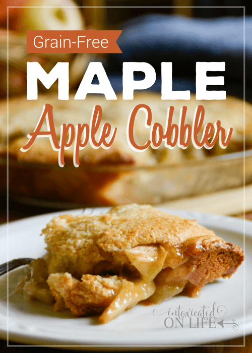 Grain Free Maple Apple Cobbler