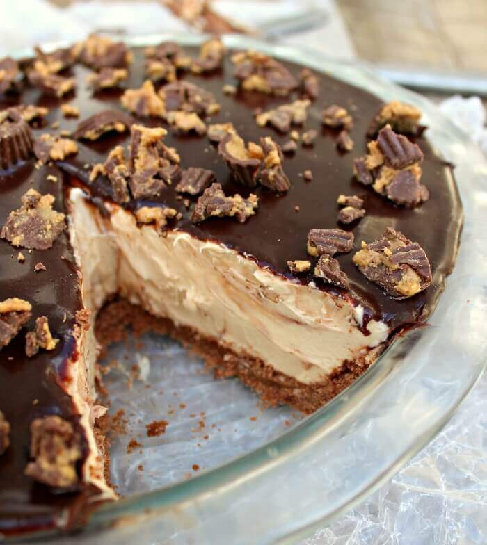 Low-Carb Peanut Butter Cup Pie (gluten-free)