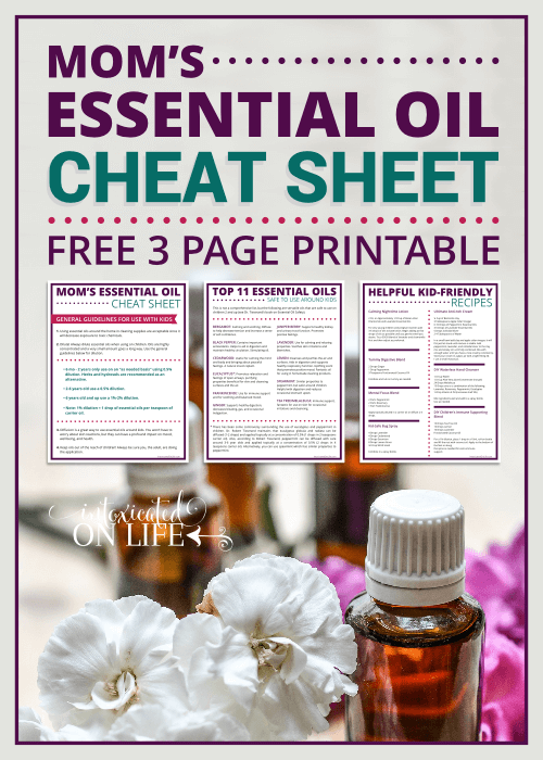 Mom's Essential Oil Cheat Sheet Printable