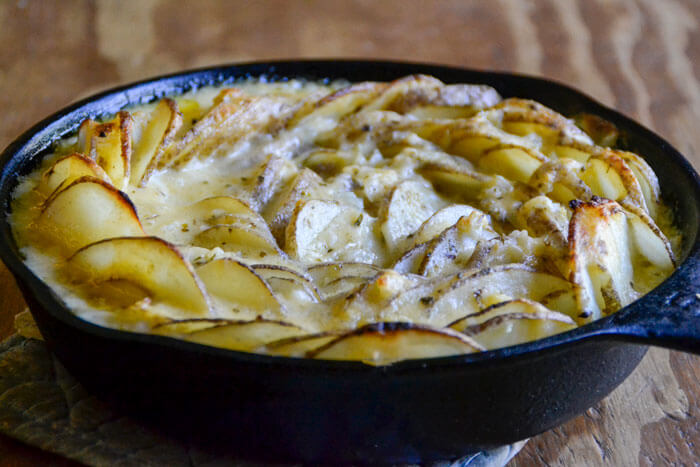 Easy, cheesy, and surprisingly healthy, these Rustic Grain-Free Scalloped Potatoes are the perfect side dish for any family meal or potluck.