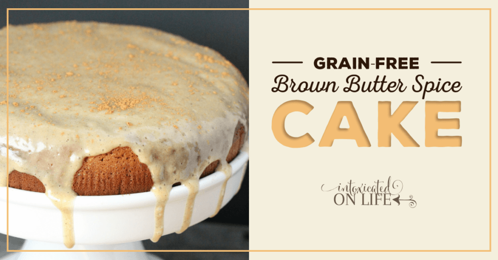 grain free brown butter spice cake fb