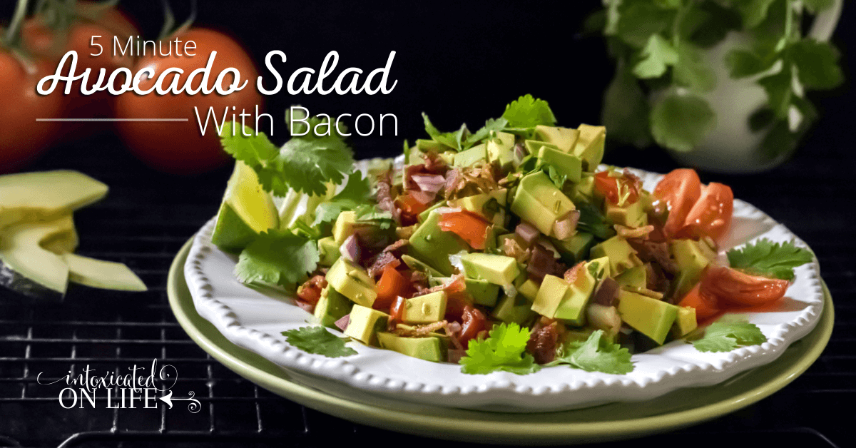 5 Minute Avocado Salad With Bacon