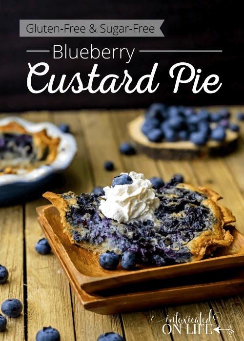 Gluten Free Sugar Free Blueberry Custard Pie
