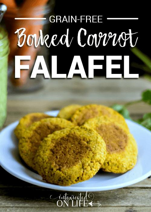 Grain Free Baked Carrot Falafel