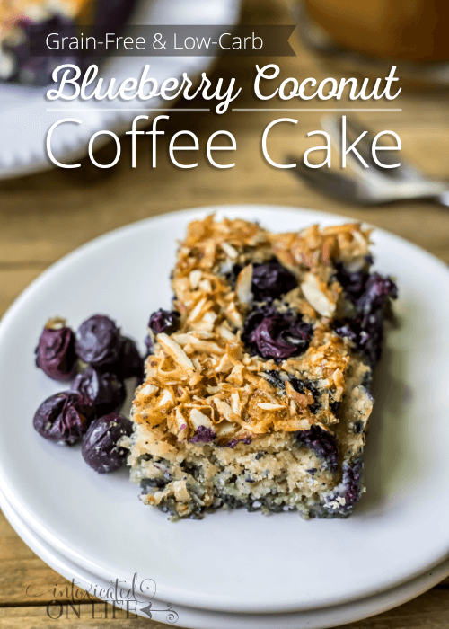 Grain Free Low Carb Blueberry Coconut Coffee Cake