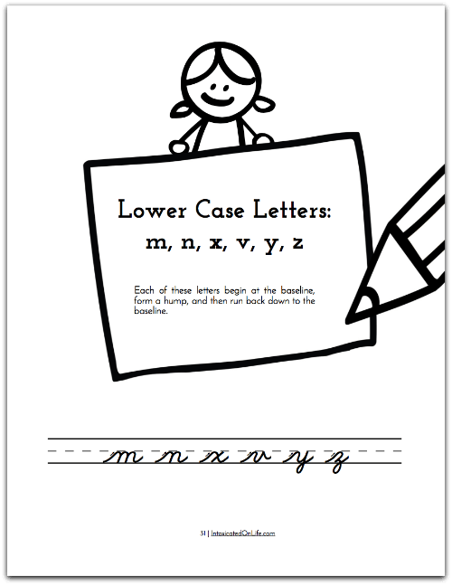 How To Teach Cursive Writing: Cursive Creations letter intro page