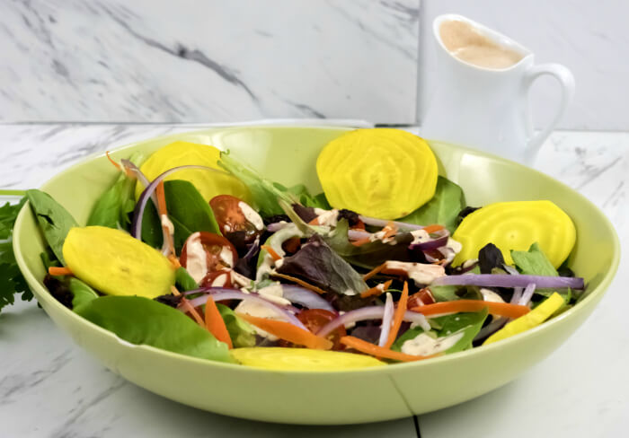 Southwest Spicy Ranch Dressing  on salad