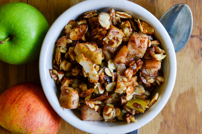 Almond Walnut Apple Crisp