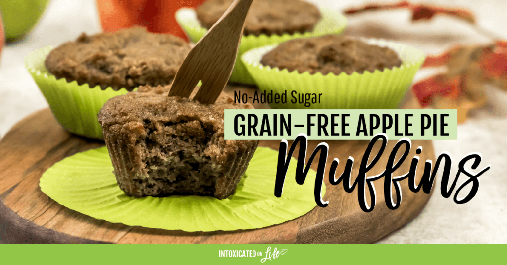 Grain Free Apple Pie Muffins No Sugar Added FB