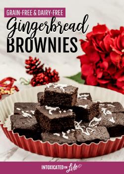 Gingerbread Brownies (grain-free & dairy-free)
