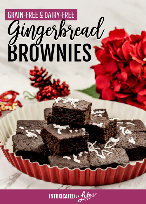 Grain Free Dairy Free Gingerbread Brownies