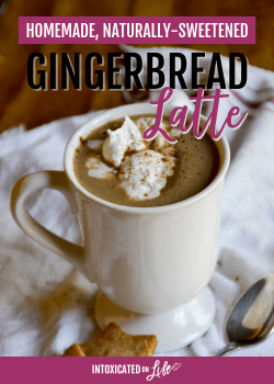 Naturally Sweetened Gingerbread Latte