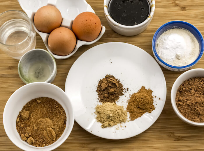 Paleo Gingerbread Brownies Ingredients