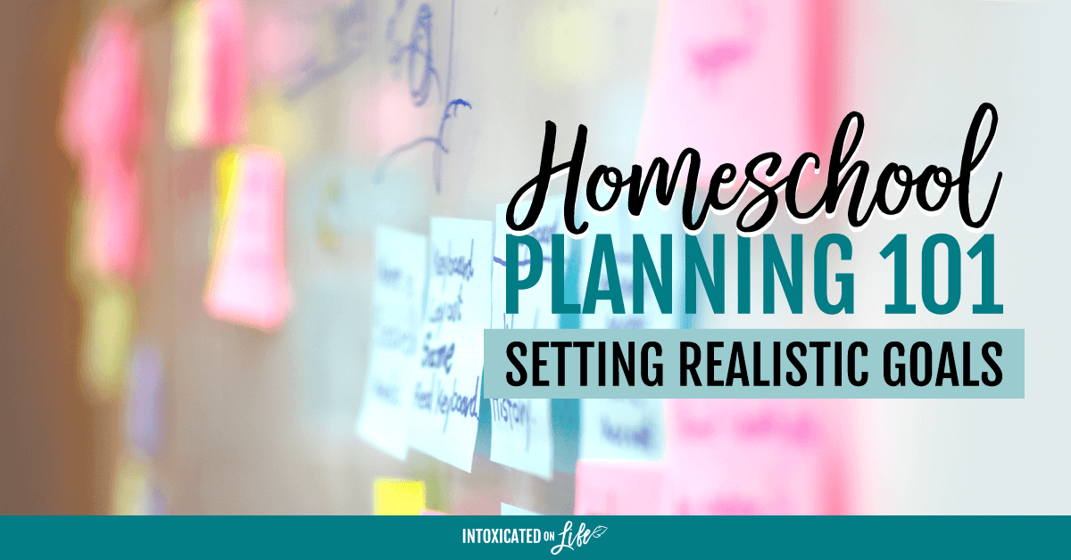 Homeschool Planning 101 Setting Realistic Goals FB