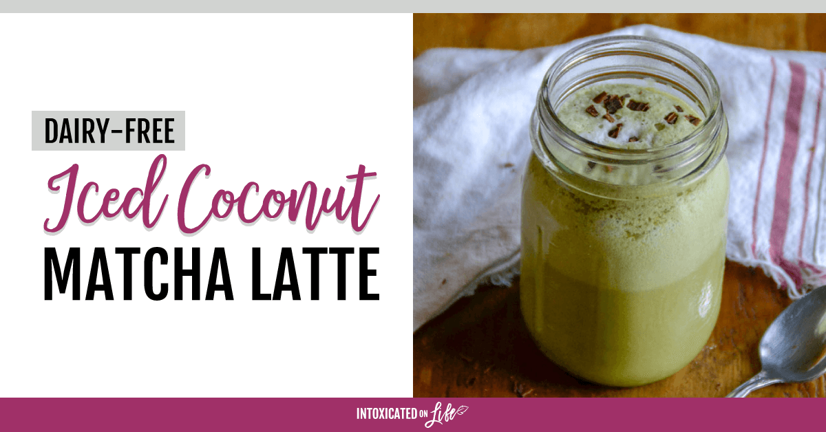 Dairy Free Iced Coconut Matcha Latte