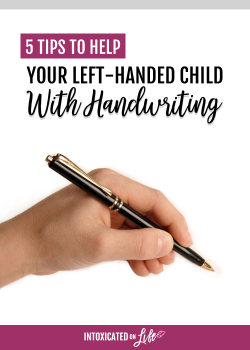 Help your left-handed child with handwriting