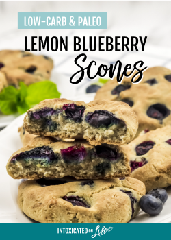 Low-Carb Lemon Blueberry Scones (paleo option)