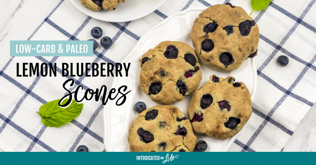 Low Carb Paleo Lemon Blueberry Scones FB