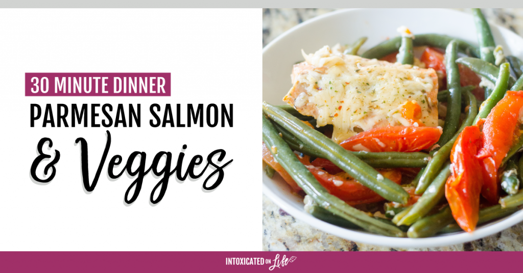 30 Minute Dinner Parmesan Salmon Veggies FB