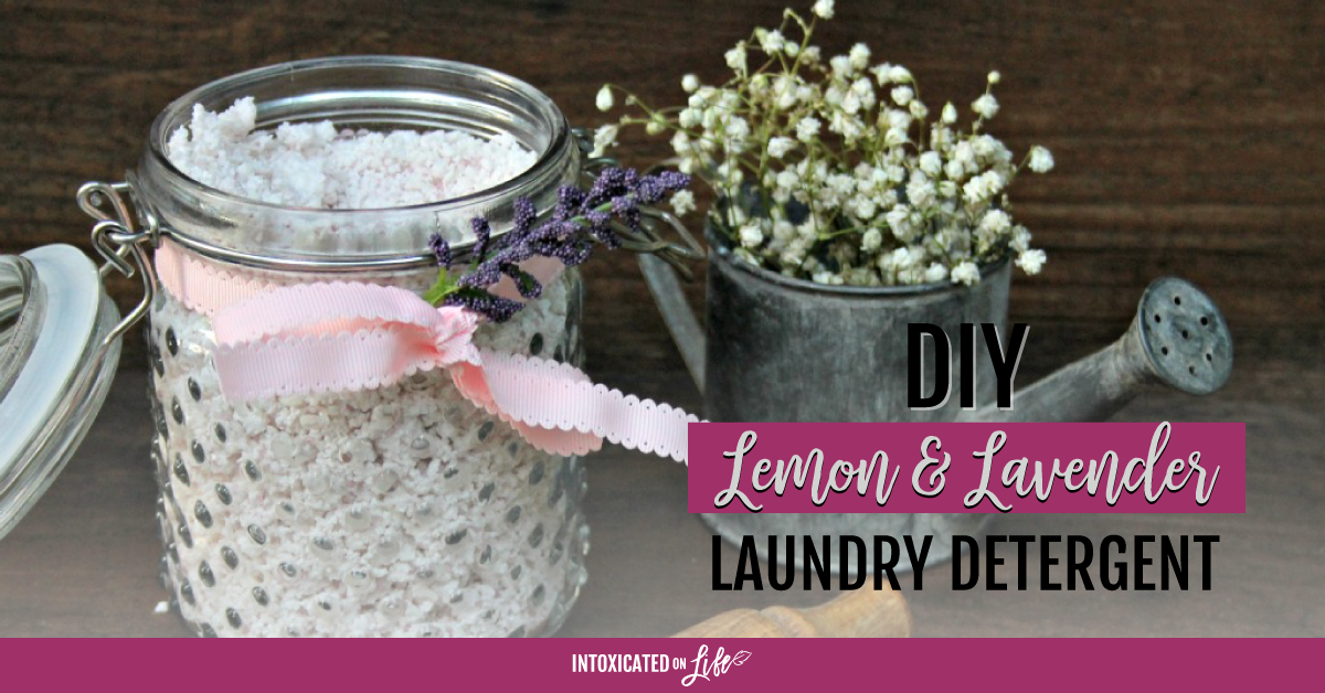 DIY Lemon And Lavender Laundry Detergent